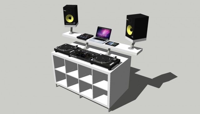 Create A Professional DJ booth from Ikea Parts