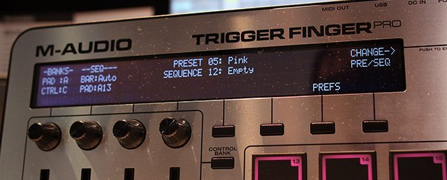 A new LCD screen at the top of the Trigger Finger Pro